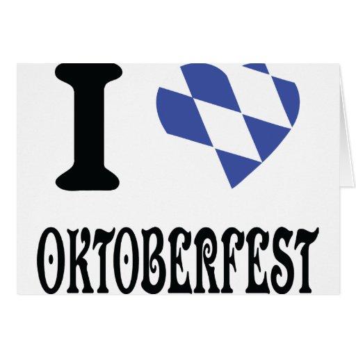 Amo el icono más oktoberfest tarjeta de felicitación