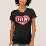 Amo el Ida. Te amo Ida. Corazón Camiseta