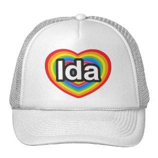 Amo el Ida. Te amo Ida. Corazón Gorro