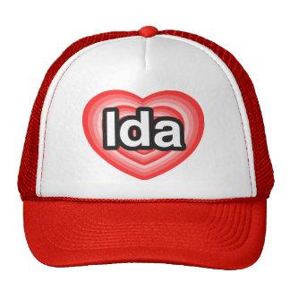 Amo el Ida. Te amo Ida. Corazón Gorras De Camionero