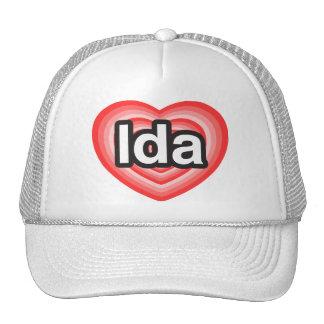 Amo el Ida. Te amo Ida. Corazón Gorra