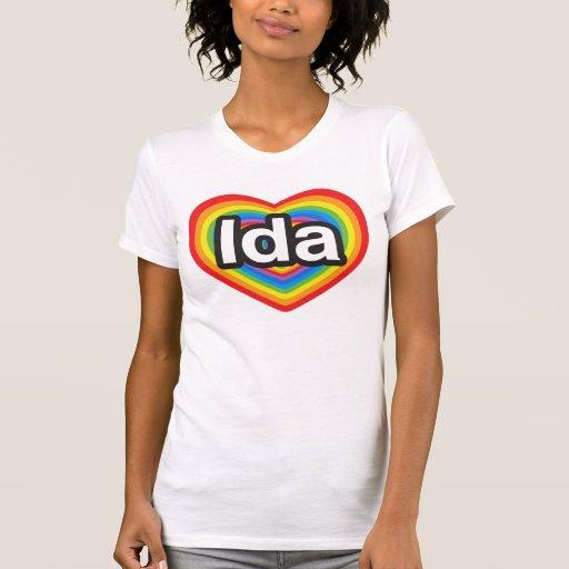 Amo el Ida. Te amo Ida. Corazón Playeras