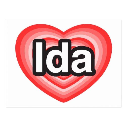 Amo el Ida. Te amo Ida. Corazón Postal
