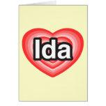 Amo el Ida. Te amo Ida. Corazón Tarjeta