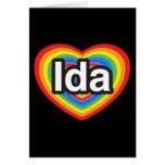 Amo el Ida. Te amo Ida. Corazón Tarjeton