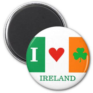 Amo el imán de la bandera de Irlanda de los