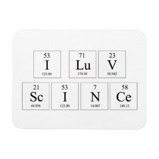 Amo el imán de la ciencia