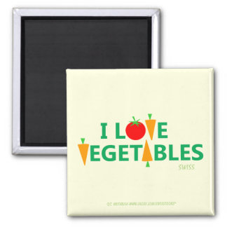 Amo el imán del refrigerador de las verduras