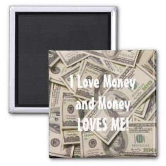 Amo el imán del refrigerador del dinero
