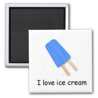 Amo el imán gemelo azul del estallido del helado