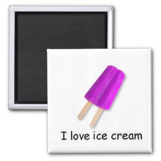 Amo el imán gemelo púrpura del estallido del helad