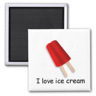 Amo el imán gemelo rojo del estallido del helado