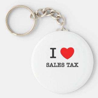 Amo el impuesto sobre venta llaveros