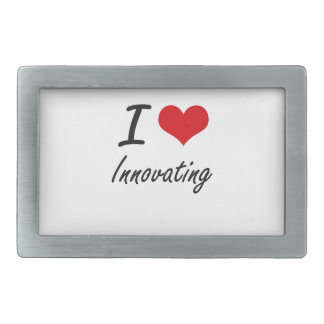 Amo el innovar hebilla cinturón rectangular