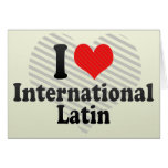 Amo el International+Latino Tarjetas