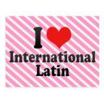 Amo el International+Latino Tarjetas Postales