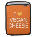 Amo el iPad del queso del vegano/la manga del carr Fundas Para iPads