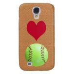 Amo el iPhone 3G, del softball estuche rígido 3GS