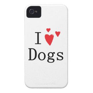 Amo el iPhone 4 S de los perros iPhone 4 Case-Mate Cárcasas