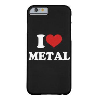 Amo el iPhone 6/6s del metal Funda Barely There iPhone 6