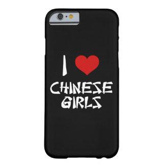 Amo el iPhone chino 6/6s de los chicas Funda Para iPhone 6 Barely There