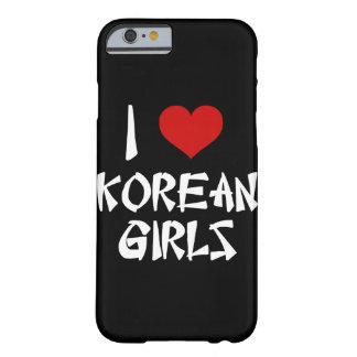 Amo el iPhone coreano 6/6s de los chicas Funda Para iPhone 6 Barely There