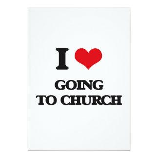 Amo el ir a la iglesia invitación 12,7 x 17,8 cm