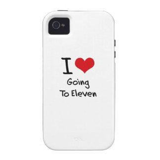 Amo el ir a once iPhone 4/4S carcasa