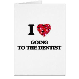 Amo el ir al dentista tarjeta de felicitación