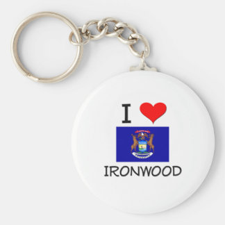 Amo el Ironwood Michigan Llavero Redondo Tipo Pin