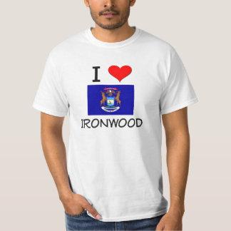 Amo el Ironwood Michigan Playeras