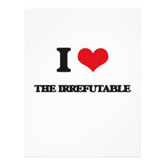 "Amo el irrefutable folleto 8.5"" x 11"""