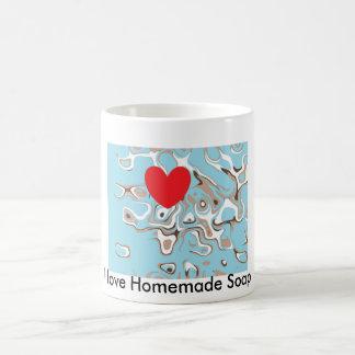 Amo el jabón hecho en casa taza de café