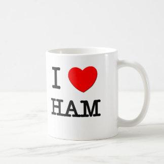 Amo el jamón taza