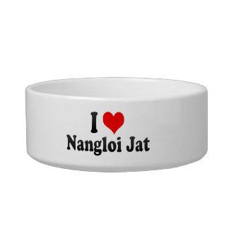 Amo el Jat de Nangloi, la India Bol Para Gato