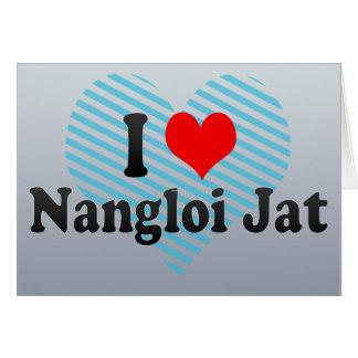 Amo el Jat de Nangloi, la India Felicitación
