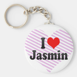 Amo el jazmín llavero personalizado