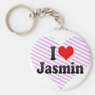 Amo el jazmín llavero redondo tipo pin