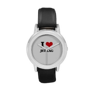 Amo el jet lag relojes de pulsera