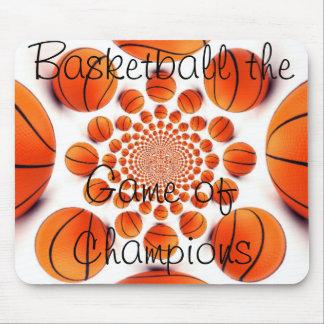 Amo el juego hermoso del baloncesto del cojín de l tapete de raton