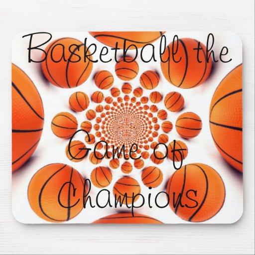 Amo el juego hermoso del baloncesto del cojín de l alfombrillas de ratón