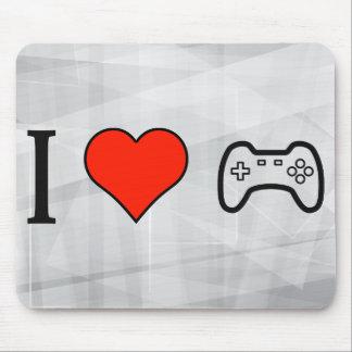 Amo el jugar de videojuegos tapete de ratones