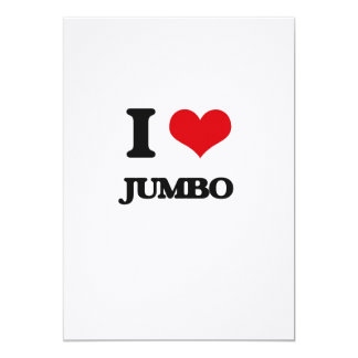 Amo el jumbo invitación 12,7 x 17,8 cm