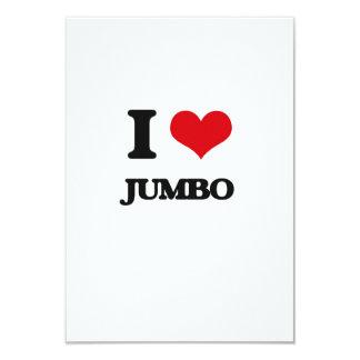 Amo el jumbo invitación 8,9 x 12,7 cm