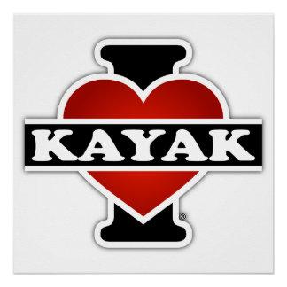 Amo el kajak perfect poster