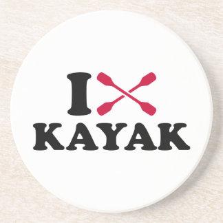 Amo el kajak posavasos personalizados