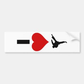 Amo el karate (vertical) pegatina para auto