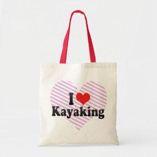 Amo el Kayaking Bolsas De Mano