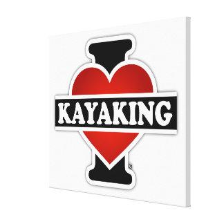 Amo el Kayaking Impresiones En Lienzo Estiradas