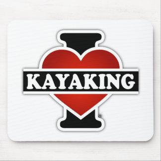 Amo el Kayaking Alfombrilla De Ratón
